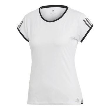 adidas Club 3 Stripe Top - White