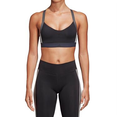 adidas All Me 3 Stripe Bra - Black