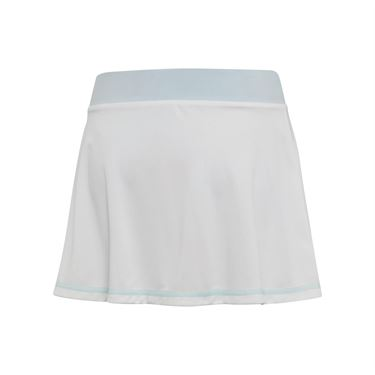 adidas Girls Parley Skirt - White/Easy Blue
