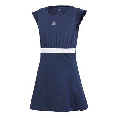 adidas Girls Ribbon Dress - Collegiate Navy