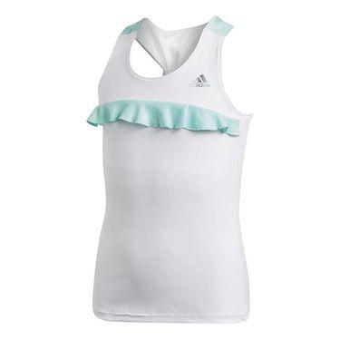 adidas Girls Ribbon Tank - White