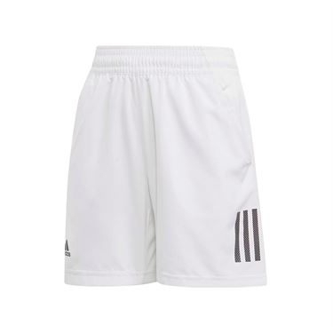 adidas Boys Club 3 Stripe Short - White/Black