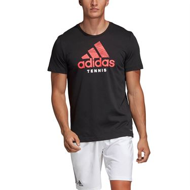 adidas Tennis Graphic Tee - Black