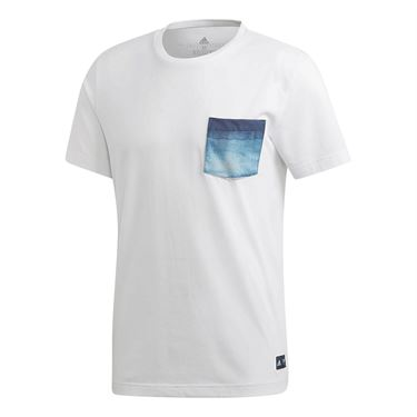 adidas Parley Pocket Tee - White