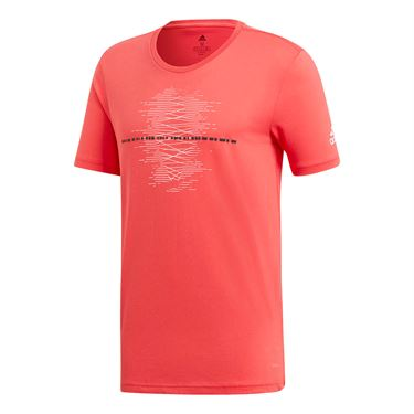 adidas Code Graphic Tee - Shock Red