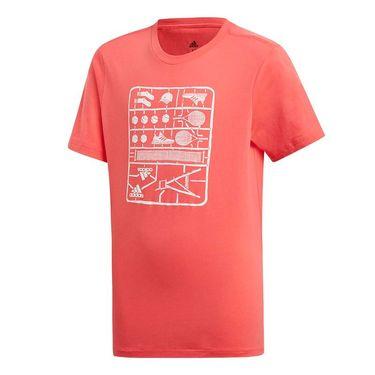 adidas Kids Graphic Tee - Shock Red