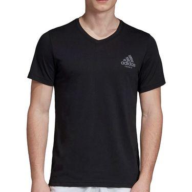 adidas Graphic V Neck Tee - Black