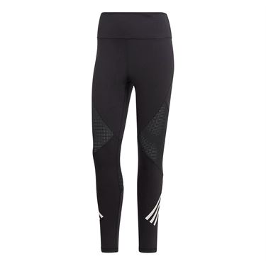 adidas Believe This High Rise 7/8 Strength 3 Stripe Tight - Black/White