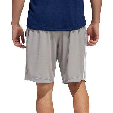 adidas 4K 3 Stripe 9 inch Short - Solid Grey Heather