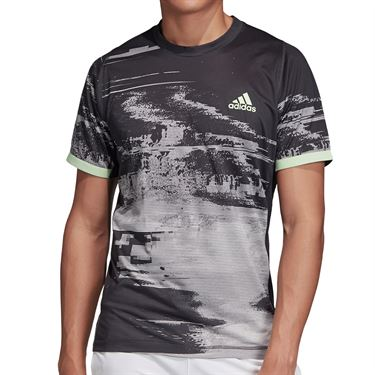 adidas NY Printed Tee Shirt Mens Black/Grey Three/Carbon DZ6216