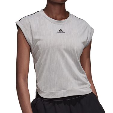 adidas NY Tee Shirt Womens Grey Three/Black DZ6234