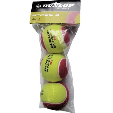 Dunlop Stage 3 Red Tennis Balls 3 Pack