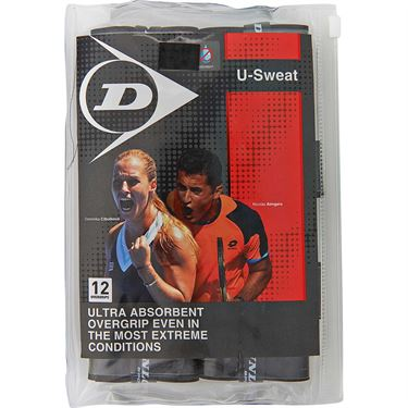 Dunlop U Sweat Tennis Overgrip 12 Pack