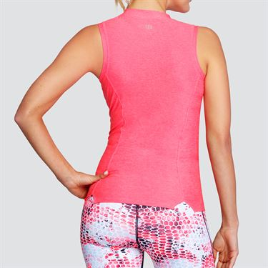 Tail Coastal Vibes Mock Neck Tank - Lazer Pink