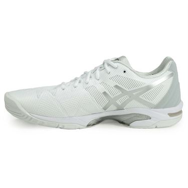 Asics Gel Solution Speed 3 Clay Mens Tennis Shoe - White/Silver