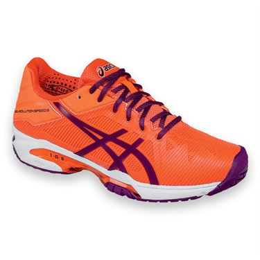 Asics Gel Solution Speed 3 Womens Tennis Shoe - Coral/Plum