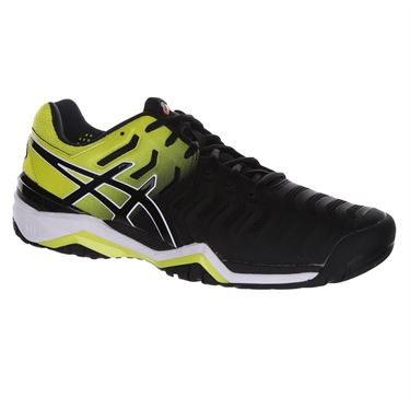 Asics Gel Resolution 7 Mens Tennis Shoe - Black/Sour Yuzu