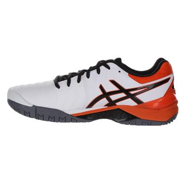 Asics Gel Resolution 7 Mens Tennis Shoe - White/Koi