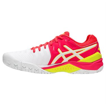 Asics Gel Resolution 7 Womens Tennis Shoe - white/Laser Pink