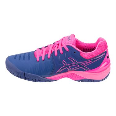 23d783b75def ... Asics Gel Resolution 7 Womens Tennis Shoe - Pink Blue Print