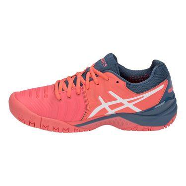 Asics Gel Resolution 7 Womens Tennis Shoe - Papaya/White
