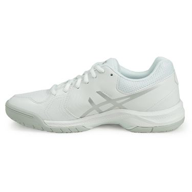Asics Gel Dedicate 5 Womens Tennis Shoe - White/Silver
