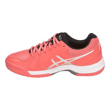 Asics Gel Dedicate 5 Womens Tennis Shoe - Papaya/Silver