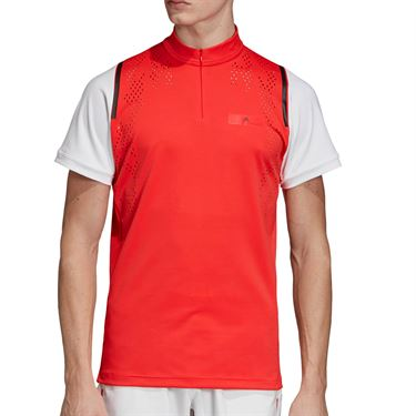 adidas Stella McCartney Zipper Shirt - Active Red