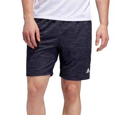 adidas 4K Heather Knit 8 inch Short - Legend Ink/Glow Blue