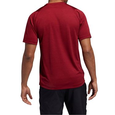 adidas Freelift Tech Heather Crew - Collegiate Burgundy