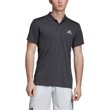 adidas Club Solid Polo - Dark Grey Heather