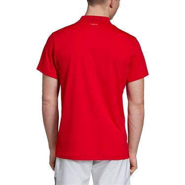 adidas Club Solid Polo - Collegiate Red