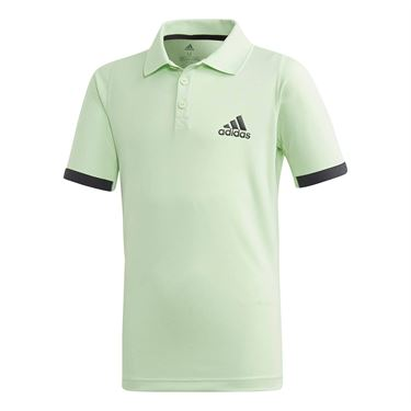 adidas Boys NY Polo - Glow Green/Carbon