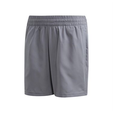 adidas Boys Club Short - Grey Heather/Glow Green