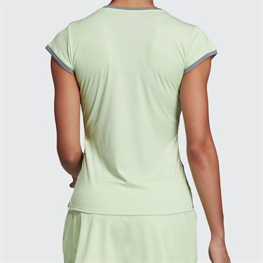 adidas Club 3 Stripe Top - Glow Green
