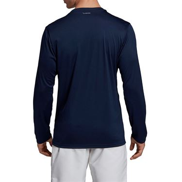 adidas UV Protect Long Sleeve Shirt - Collegiate Navy/White