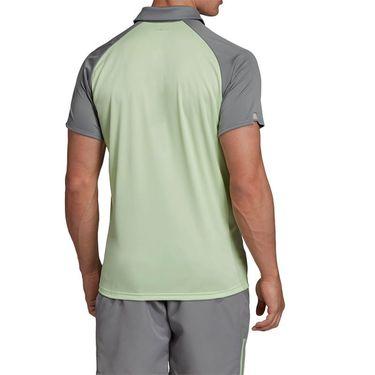 adidas Club Colorblock Polo - Glow Green/Grey Heather