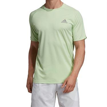 adidas Club Colorblock Crew - Glow Green/Grey Heather