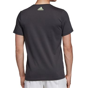 adidas Flushing Graphic Tee Shirt Mens Carbon ED6188