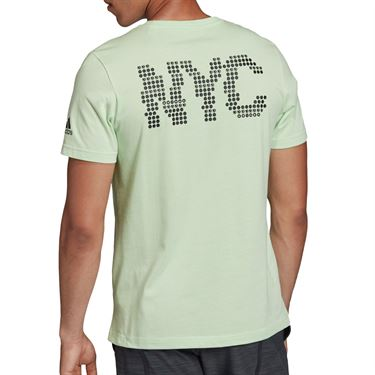 adidas NY Graphic Tee Shirt Mens Glow Green ED6193