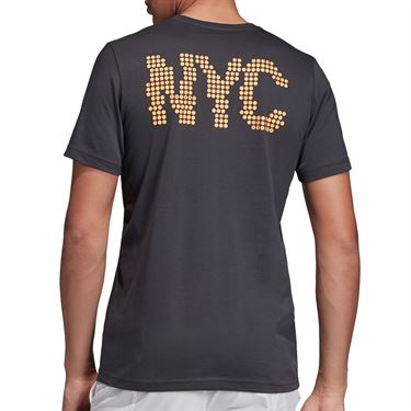 adidas NY Graphic Tee Shirt Mens Carbon ED6194
