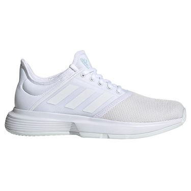 adidas Game Court Womens Tennis Shoe - White/Blue Tint