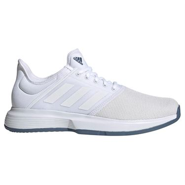 adidas Game Court Mens Tennis Shoe - White/Tech Ink