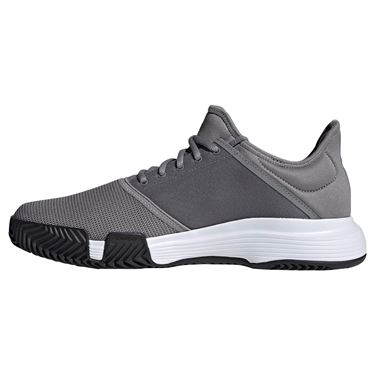 adidas Game Court Mens Tennis Shoe - Grey Three/Black