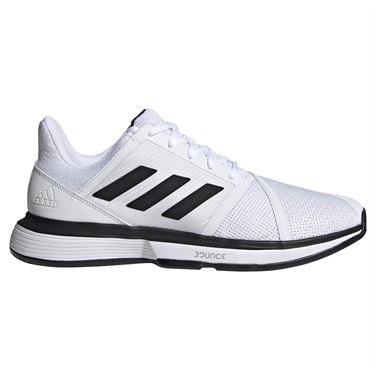 adidas Court Jam Bounce Wide Mens Tennis Shoe - White/Black/Matte silver