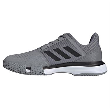 adidas Court Jam Bounce Mens Tennis Shoe - Grey Three/Black/White
