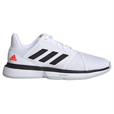 adidas Court Jam Bounce Mens Tennis Shoe - White/Black/Light Grey