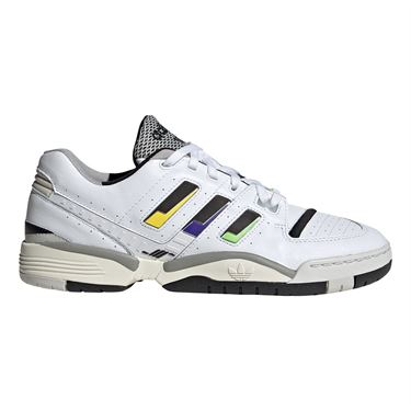 adidas Torsion Comp Mens Tennis Shoe - White/Core Black/Cream White
