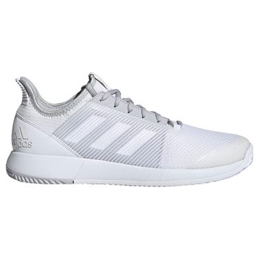 adidas adizero Defiant Bounce 2 Mens Tennis Shoe - White/Light Grey