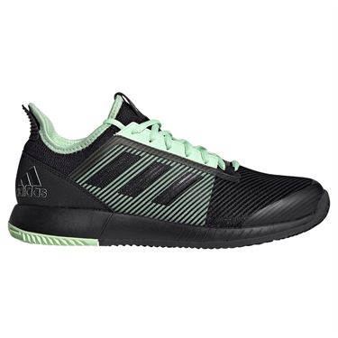adidas adizero Defiant Bounce 2 Womens Tennis Shoe - Black/Glow Green